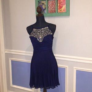 B. Darlin Dark Blue Rhinestone Dress